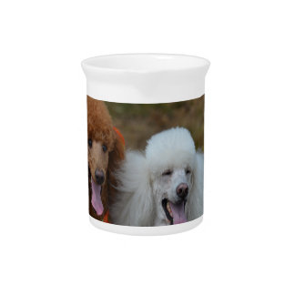 Pair of Poodles Beverage Pitcher
