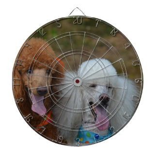 Pair of Poodles Dartboard