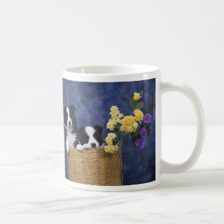 Pair of Puppies in a Basket Coffee Mug