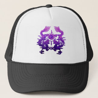 Pair of Purple Dragons on Gifts and Apparel Trucker Hat