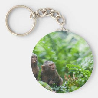 Pair of pygmy monkeys keychain