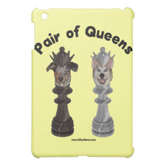 Pair of Queens Chess Dogs iPad Mini Cases