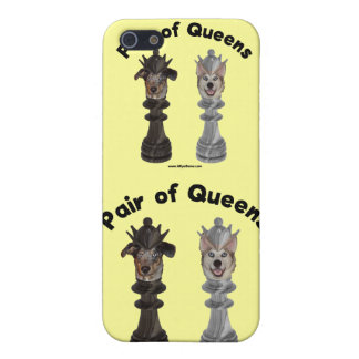 Pair of Queens Chess Dogs iPhone 5 Case
