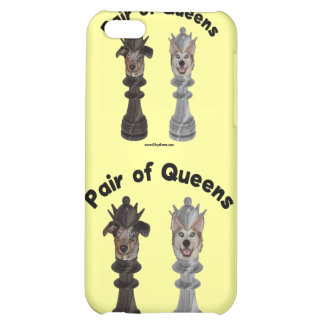 Pair of Queens Chess Dogs iPhone 5C Cover