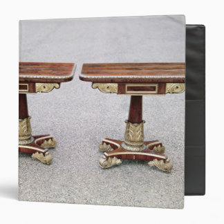 Pair of Regency card tables on quadruple bases 3 Ring Binder