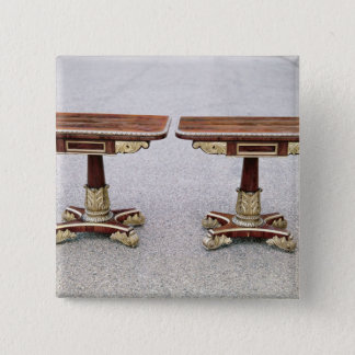 Pair of Regency card tables on quadruple bases Button