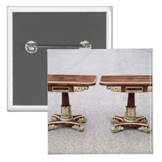 Pair of Regency card tables on quadruple bases 2 Inch Square Button