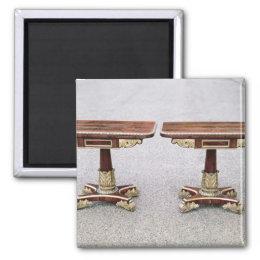 Pair of Regency card tables on quadruple bases Magnet
