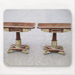 Pair of Regency card tables on quadruple bases Mouse Pads