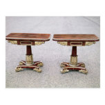 Pair of Regency card tables on quadruple bases Post Card