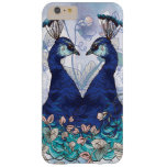 Pair of Royal Blue Peacocks Barely There iPhone 6 Plus Case