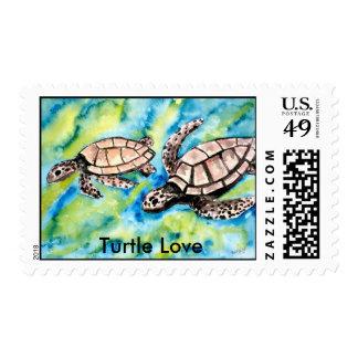 pair of sea turtles Turtle Love postage stamps