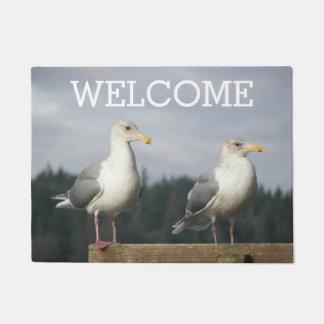 Pair of Seagulls Photo Doormat