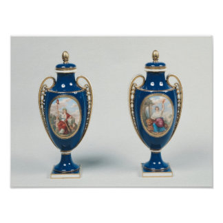 Pair of Sevres vases decorated with allegorical Poster