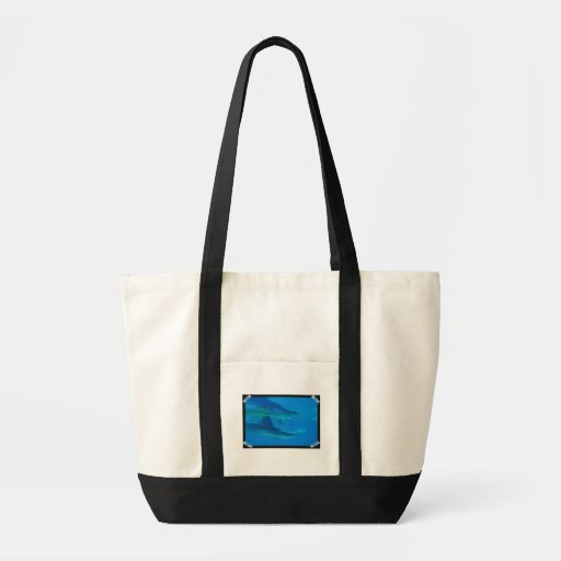 Pair of Sharks Canvas Tote Bag