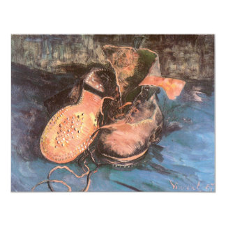 Pair of Shoes, Vincent van Gogh Vintage Still Life Custom Announcements