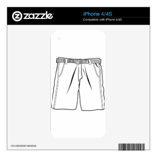 Pair of shorts decal for the iPhone 4S
