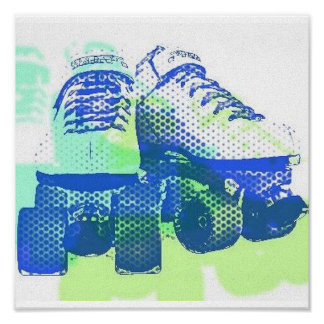 Pair of Skates Pop Art Canvas Print