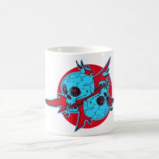 pair of skull cartoon coffee mug