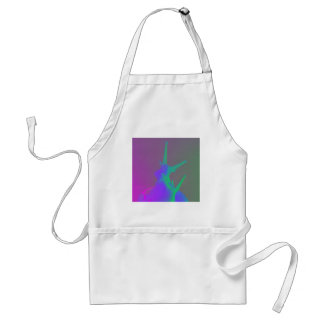 Pair of Snails in psychadelic colours Adult Apron