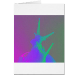 Pair of Snails in psychadelic colours Greeting Card
