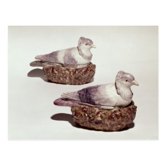 Pair of Staffordshire pottery tureens Postcard