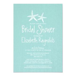 Pair of Starfish Bridal Shower Invitations