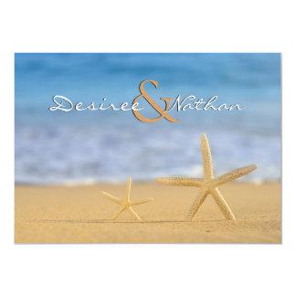 Pair of Starfish Wedding Invitation