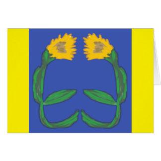Pair of Sunflowers Card