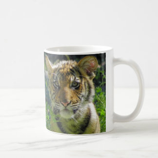 Pair of Tiger Cubs Portrait Coffee Mugs