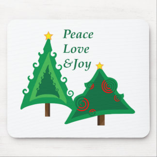 Pair Of Trees Mouse Pads