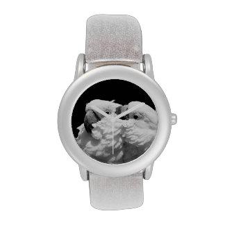 Pair of umbrella cockatoos wrist watch