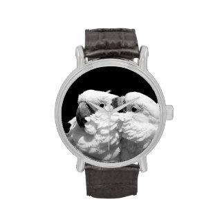 Pair of umbrella cockatoos wrist watches