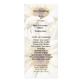 Pair of White Daisies Wedding Program