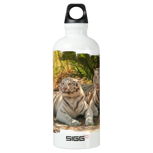 Pair of White Tigers SIGG Traveler 0.6L Water Bottle
