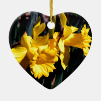 Pair of Yellow Daffodils Ornament
