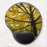 Pair of Yellow Maple Trees Autumn Nature Gel Mouse Pad