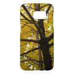 Pair of Yellow Maple Trees Autumn Nature Samsung Galaxy S7 Case