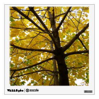 Pair of Yellow Maple Trees Autumn Nature Wall Decal