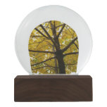 Pair of Yellow Maple Trees Snow Globe