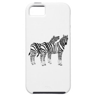 Pair of Zebras on iphone5 cases & other products iPhone 5 Case