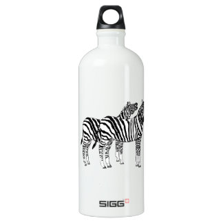 Pair of Zebras on multiple Water Bottle