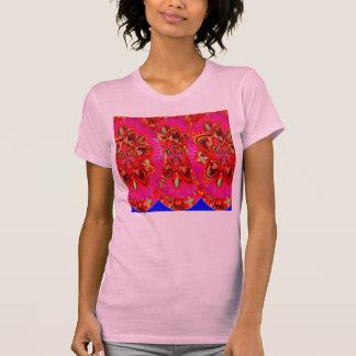 Pair Red Flower Shirt