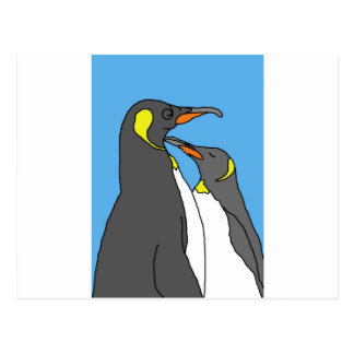 Paired King Penguin Post Card