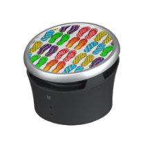 Pairs of Flip Flop Sandals Colorful Patterns Speaker