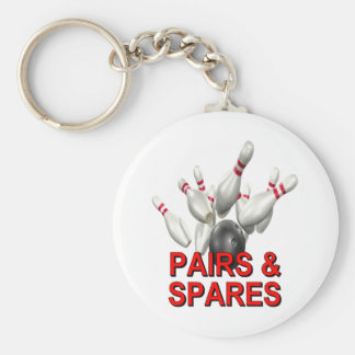 Pairs & Spares Bowling Keychain