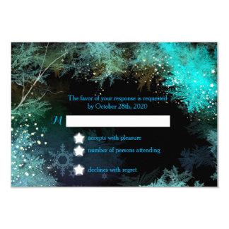 """País azul del bosque del invierno del trullo que invitación 3.5"""" x 5"""""""