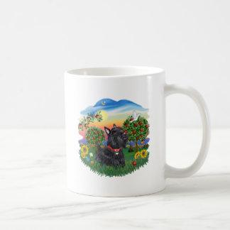País brillante - escocés Terrier 6 Tazas De Café