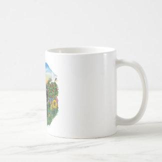 País brillante - Portie negro 5bw Tazas De Café