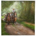 País - caballo - el paseo del heno servilleta imprimida